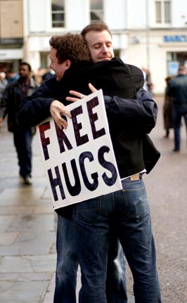 Free Hugs, Cambridge
